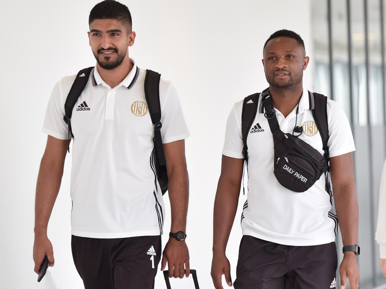 Al Jazira players heading for the preseaon trainng camp in Netherlands