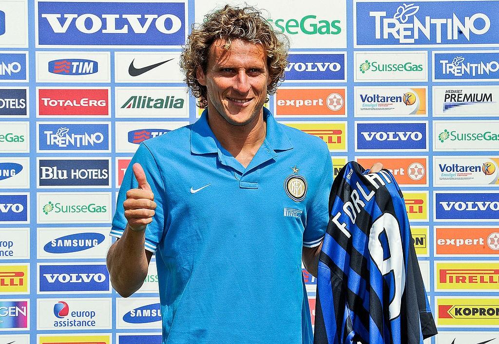 Inter Milan's Uruguayan forward Diego Fo
