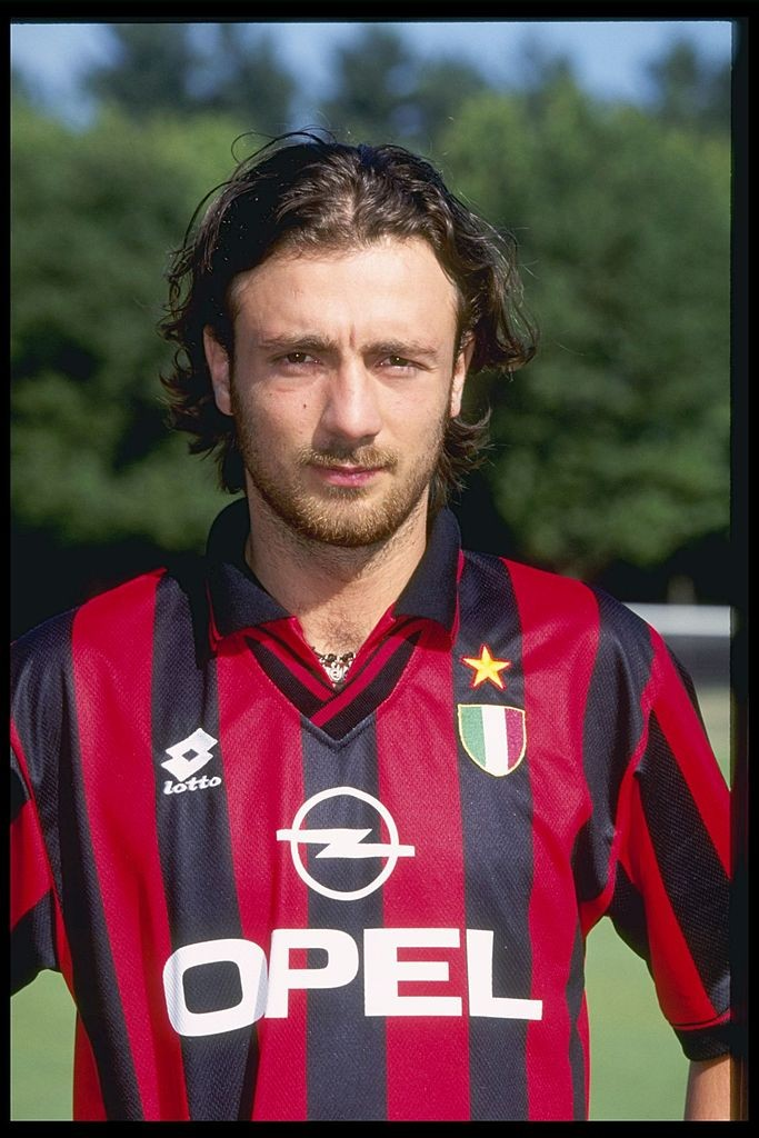 A portrait of Christophe Dugarry of A.C Milan