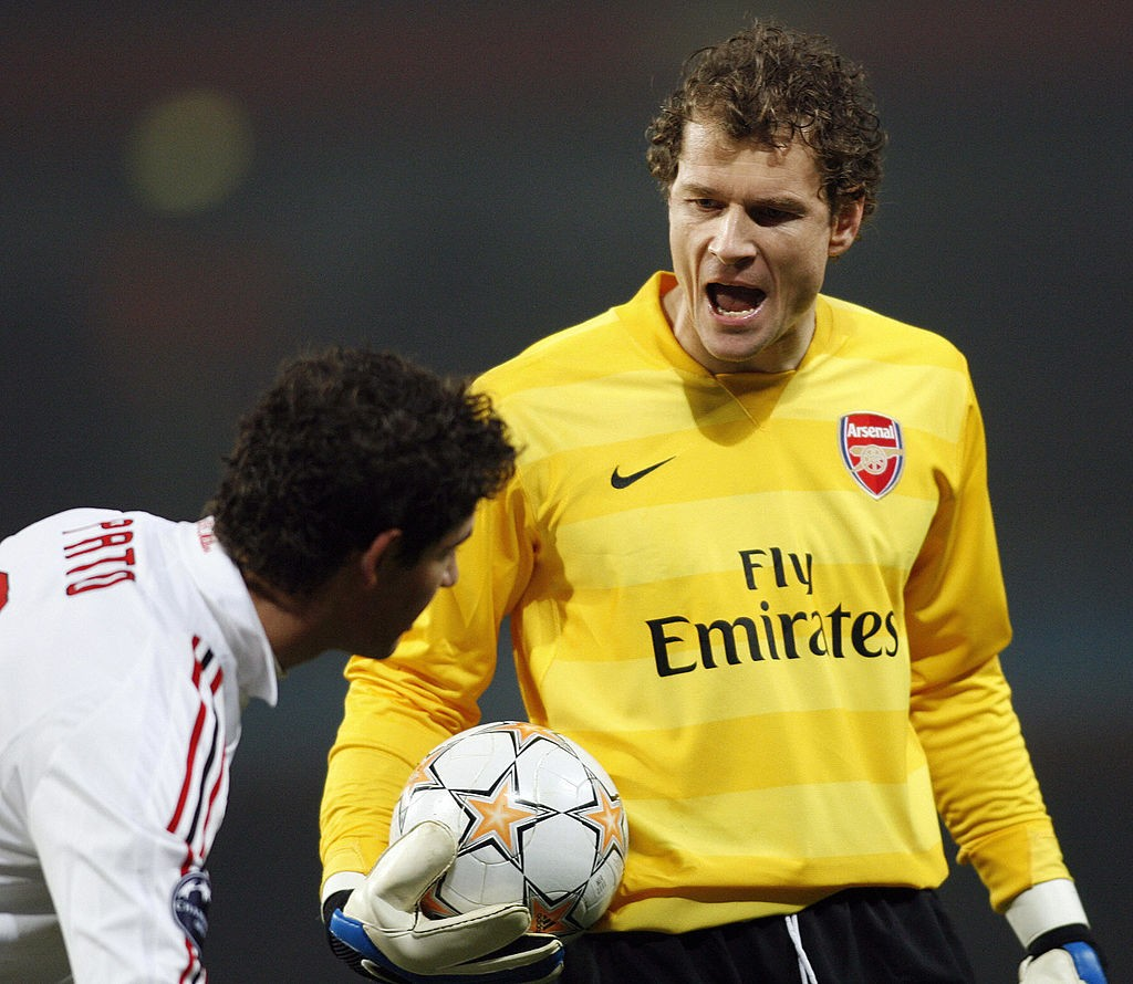 Arsenal's German goalkeeper Jens Lehmann