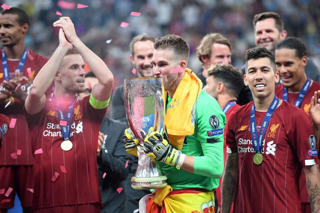 احتفال ليفربول بلقب السوبر الأوروبي