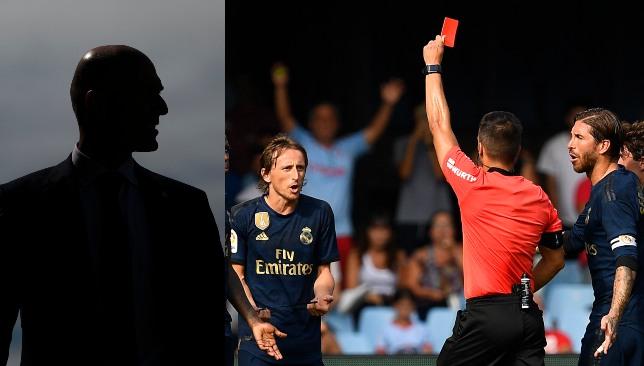 الحكم يشهر البطاقة الحمراء في وجه مودريتش
