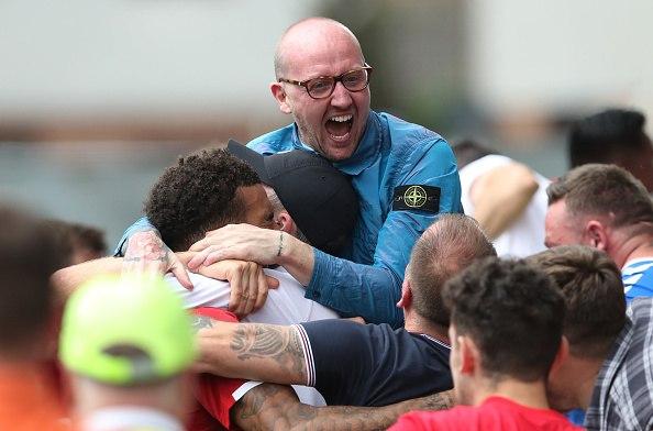 جماهير رينجرز الأسكتلندي تحتفل بالانتصار مع فريقها