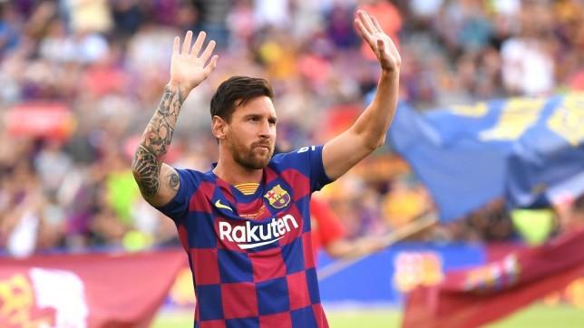 ليو ميسي بقميص برشلونة