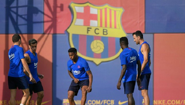 جونيور فيربو في تدريبات برشلونة اليوم