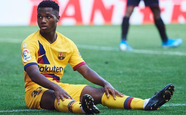أنسو فاتي لاعب برشلونة الشاب FOTO: JUAN MANUEL SERRANO ARCE