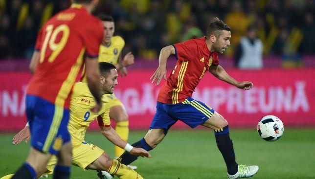 منتخب إسبانيا أمام رومانيا