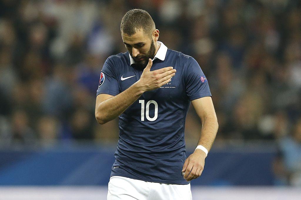 كريم بنزيما مع فرنسا