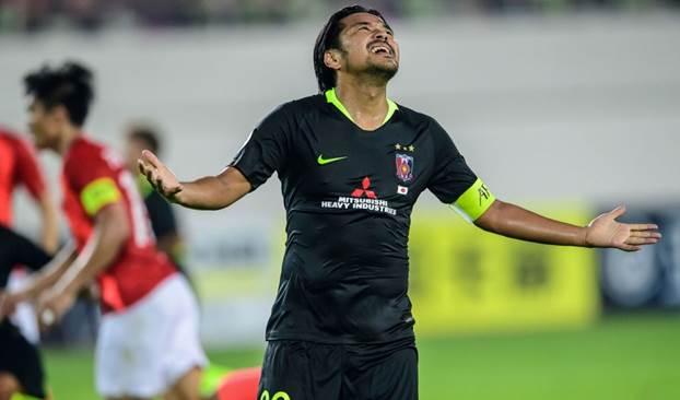 صورة للمهاجم كوروكي من مباراة أوراوا وغوانغجو