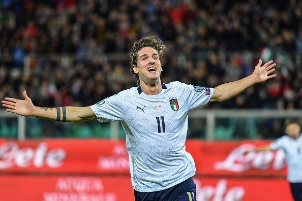 زانيولو يسجل ثنائية مع منتخب إيطاليا في مباراة رسمية بعمر الـ20 عاماً