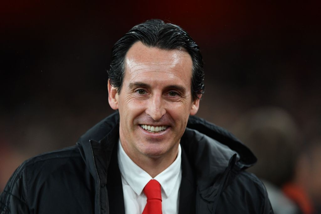 Arsenal's Spanish head coach Unai Emery looks on before the start of the UEFA Europa league Group F football match between Arsenal and Eintracht Frankfurt at the Emirates stadium in London on November 28, 2019. (Photo by DANIEL LEAL-OLIVAS / AFP) (Photo by DANIEL LEAL-OLIVAS/AFP via Getty Images)