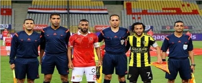 حكم مباراة الأهلي ودجلة وش السعد على الأصفر وصاحب ذكريات سيئة