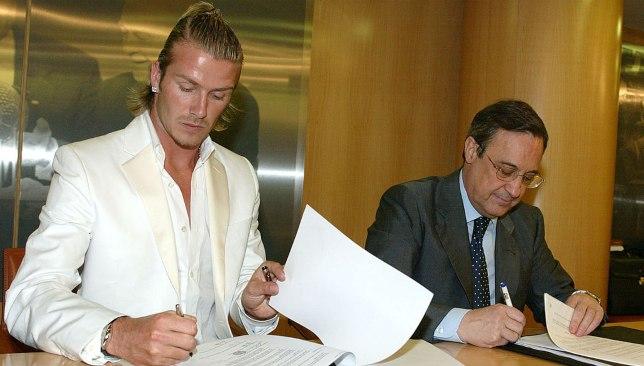 بيكهام يوقع على عقد انتقاله إلى ريال مدريد