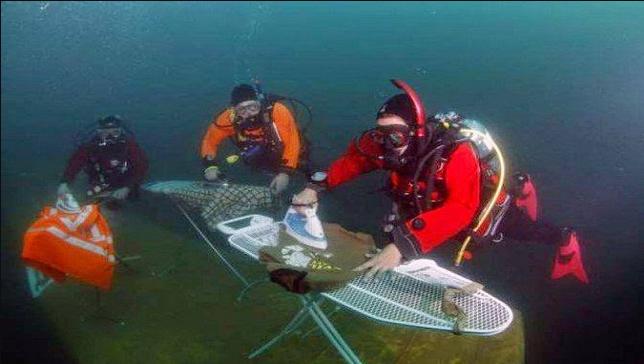 الكي تحت الماء