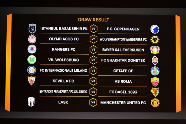 قرعة الدور ثمن النهائي من الدوري الأوروبي
