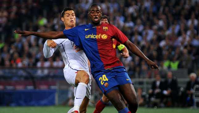 يايا توريه حقق دوري أبطال أوروبا مع برشلونة