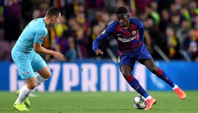 عثمان ديمبيلي لاعب برشلونة