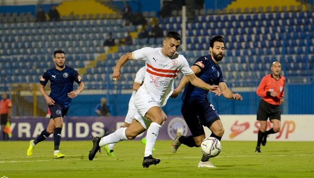 نادي الزمالك وبيراميدز - الدوري المصري