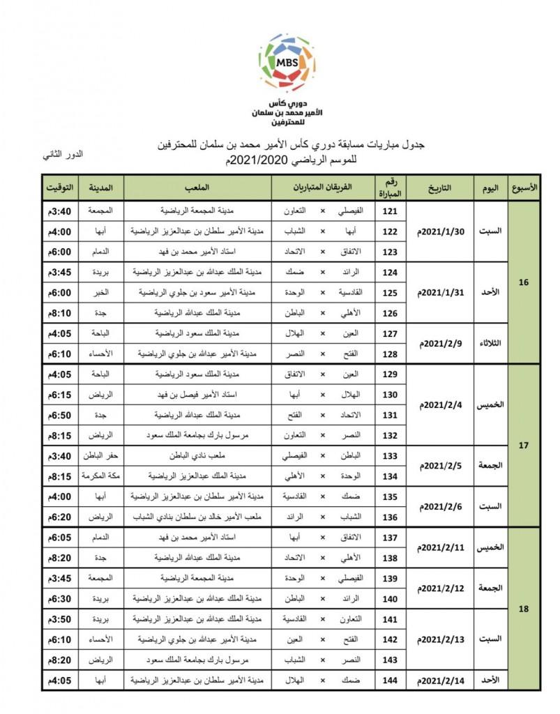 أخبار نادي الهلال رسميا مواعيد مباريات الدور الثاني من بطولة الدوري السعودي سبورت 360