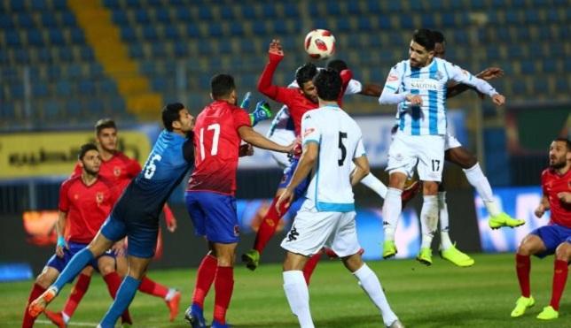 النادي الأهلي وبيراميدز - الدوري المصري