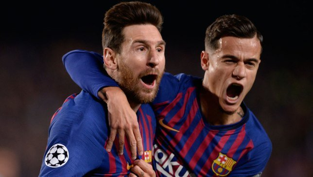 كوتينيو و ميسي - برشلونة - الدوري الإسباني