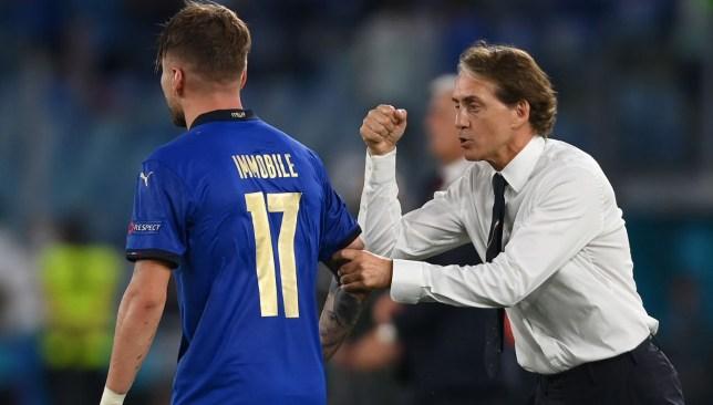 مانشيني و إيموبيلي - منتخب إيطاليا - يورو 2020